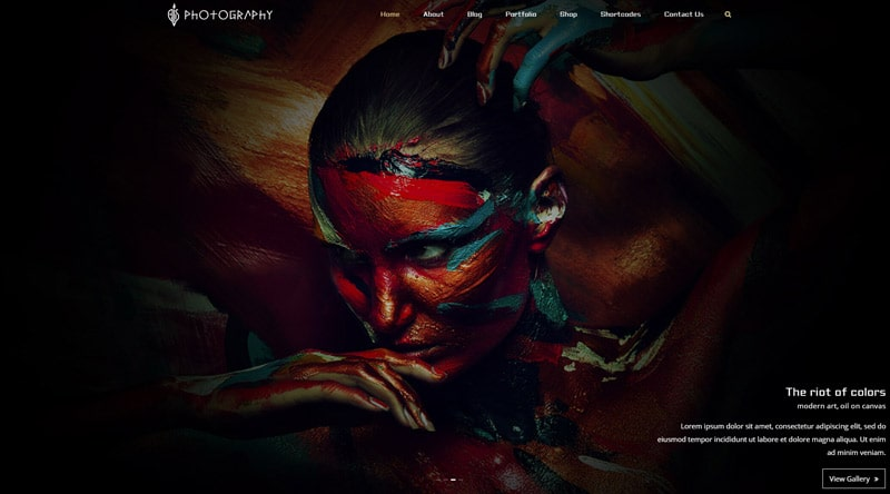 FullScreen Artist WordPress-Theme