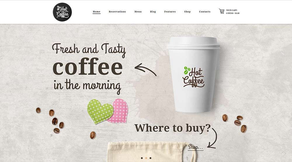 Hot Coffee WordPress Theme