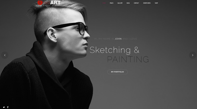 Red Art WordPress Theme