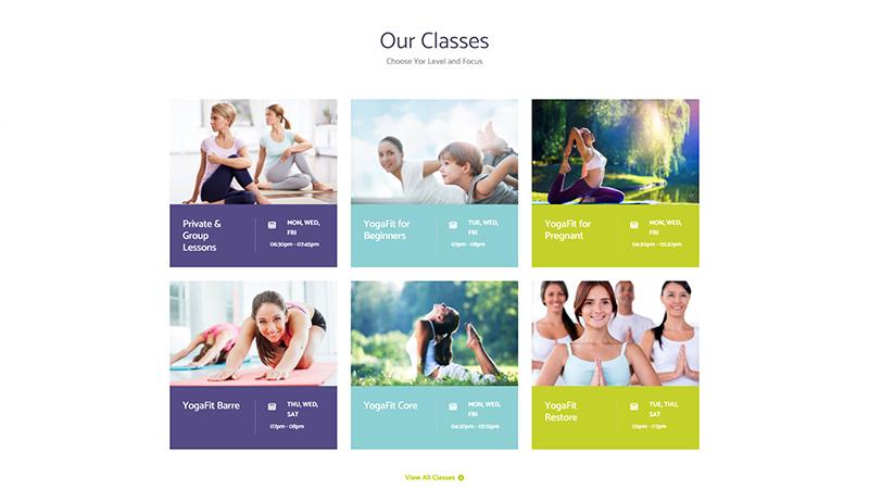 Yogastudio Theme Classes
