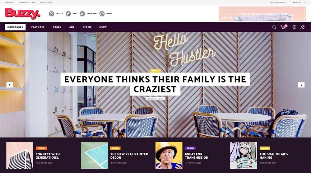 Buzzy WordPress Theme