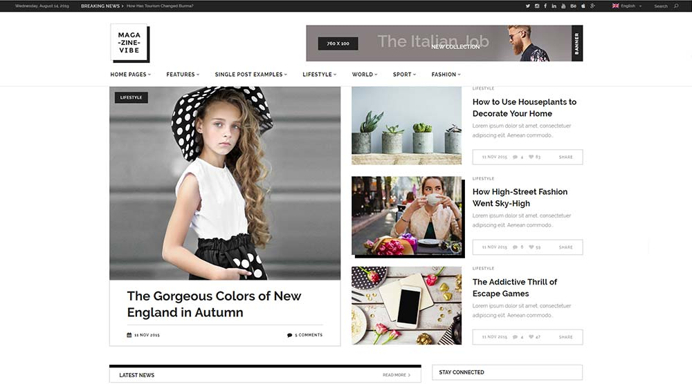 Magazine Vibe WordPress Theme