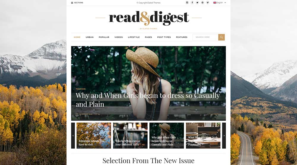 Read and Digest WordPress Theme