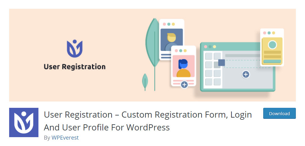 User registration form plugin