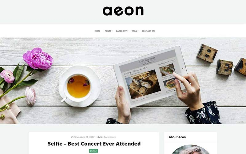 Aeon WordPress Theme