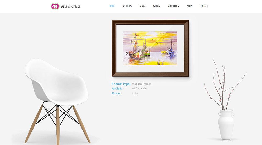 Arts & Crafts WordPress Theme