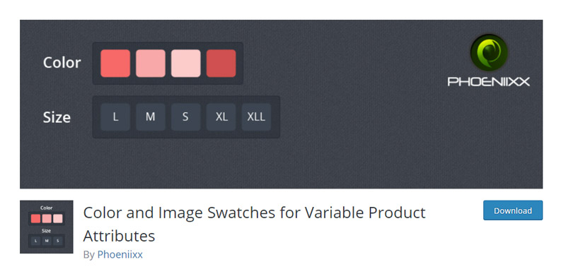 Color and Image Swatches for Variable Product Attributes
