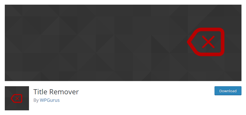 Title Remover plugin