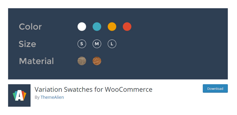Variation Swatches for WooCommerce ThemeAlien