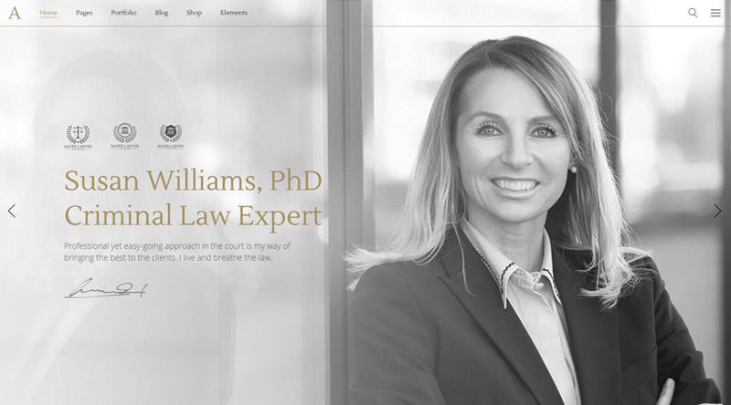 Anwalt WordPress Theme