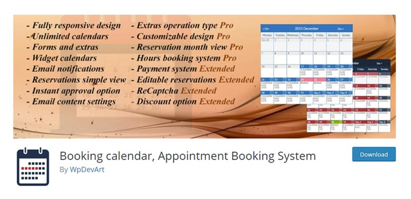 Booking calendar and Appointment Booking System