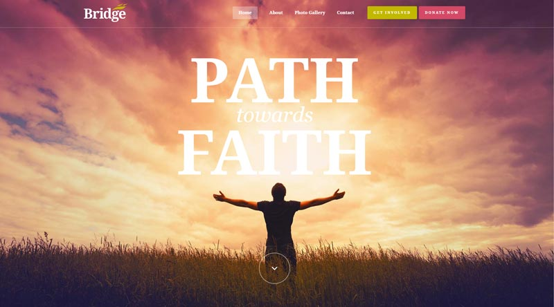 Bridge Church WordPress Theme