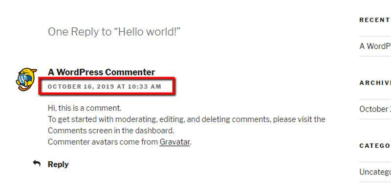 Comment Date