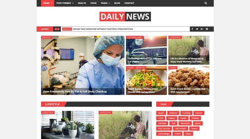 Daily News WordPress Theme