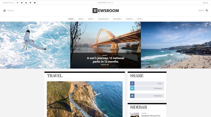 Newsroom WordPress Theme
