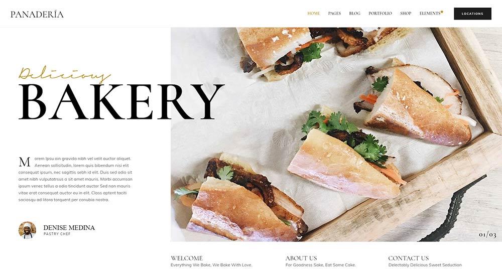 Panadería WordPress Theme
