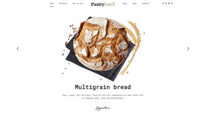 Pastry Love WordPress Theme