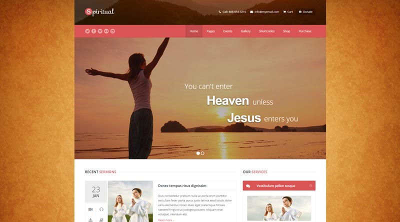 Spiritual WordPress Theme