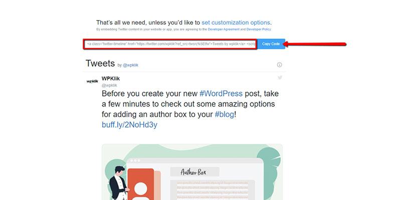 Twitter-Publish-Code