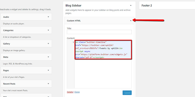 Twitter-Custom-HTML