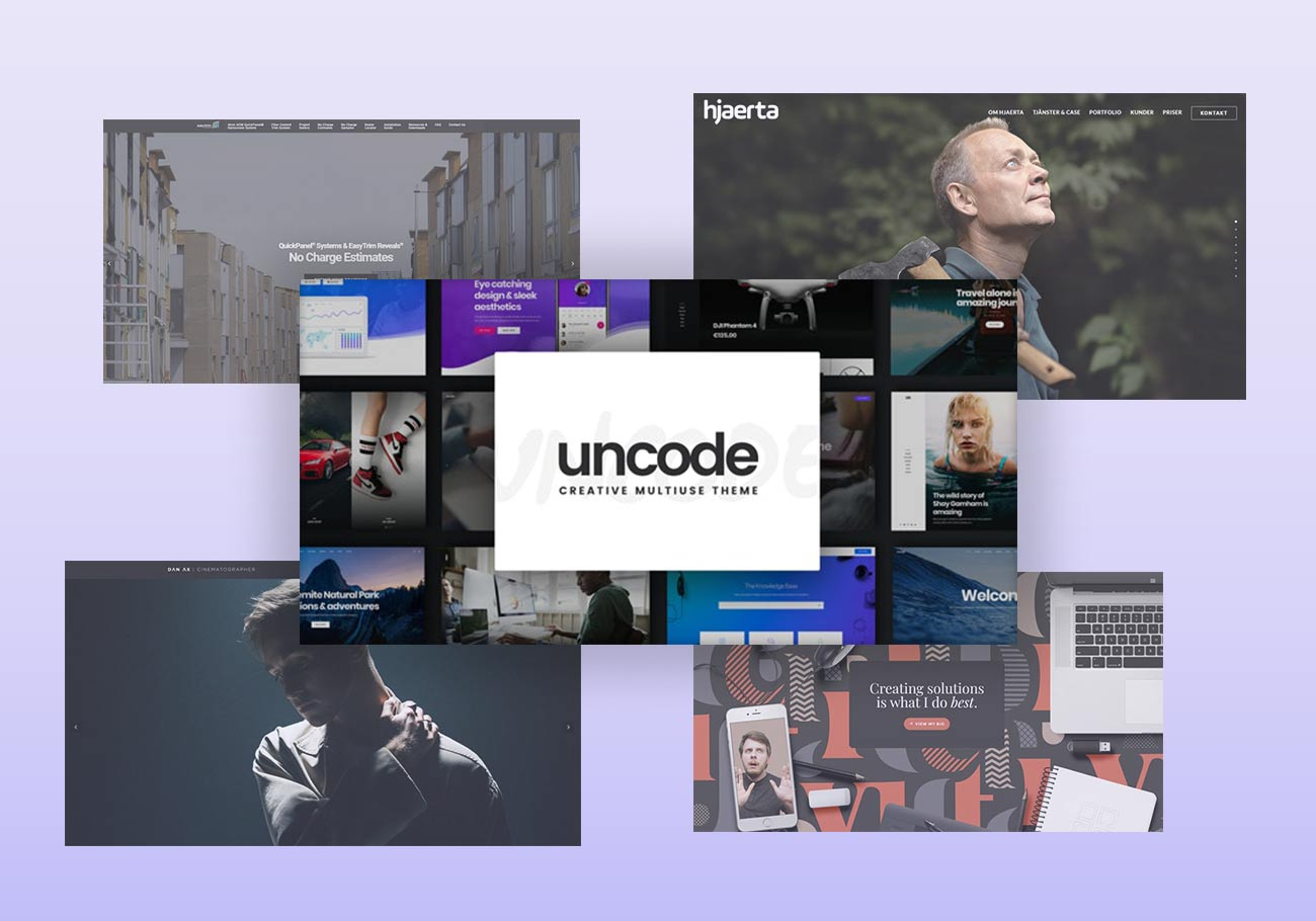 Amazing Websites Built with the Uncode WordPress Theme