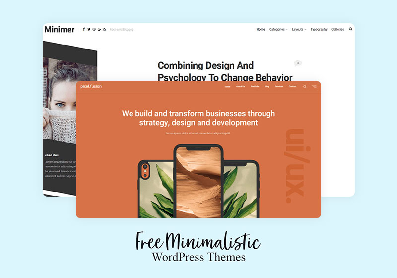 Best Free Minimalistic WordPress Themes