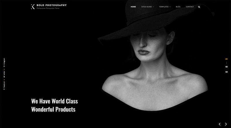 Bold Photography WordPress Theme