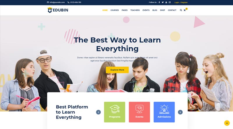 Edubin WordPress Theme