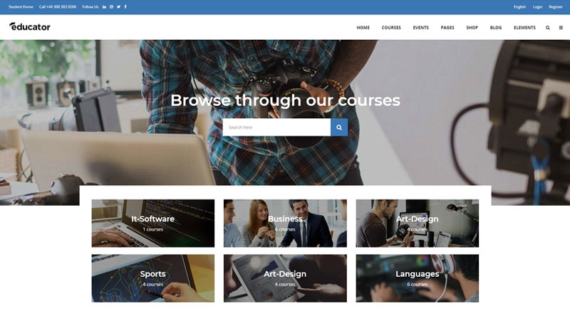 Educator WordPress Theme