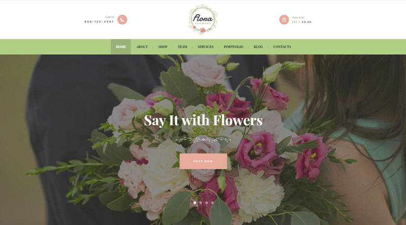 Flowers Boutique WordPress-Theme