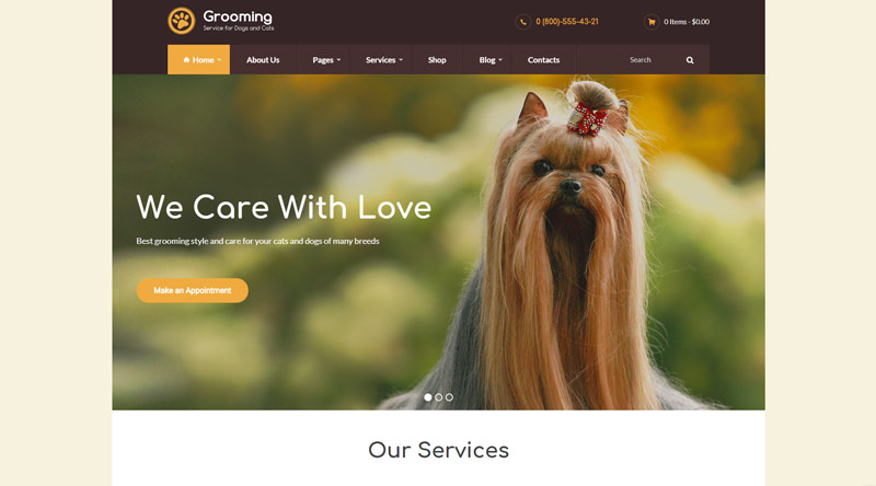 Grooming WordPress Theme