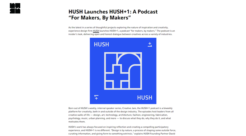 Hush + 1 podcast