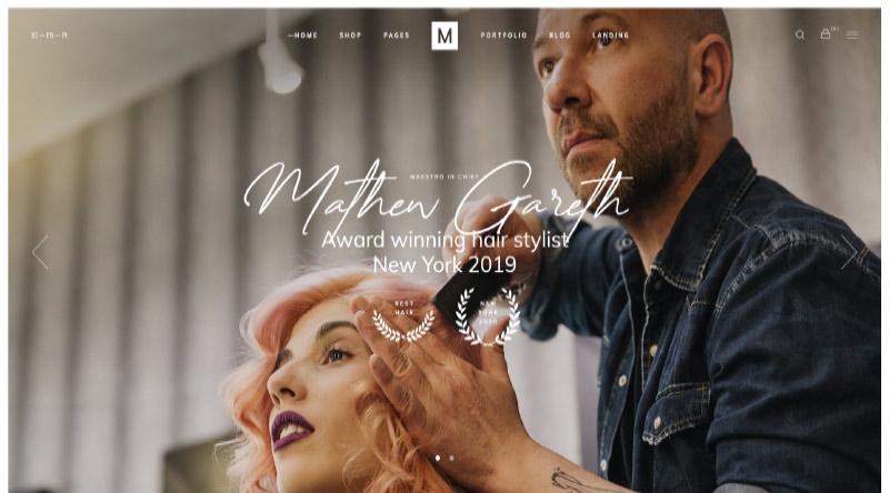 Marra Hairdresser WordPress Themes
