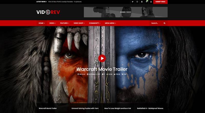 VidoRev WordPress Theme