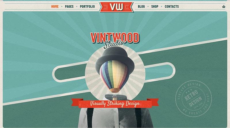 Vintwood WordPress Theme