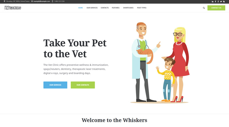 Whiskers WordPress Theme