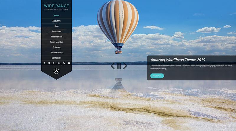 Wide Range WordPress Theme