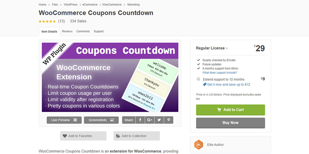WooCommerce Coupon Countdown