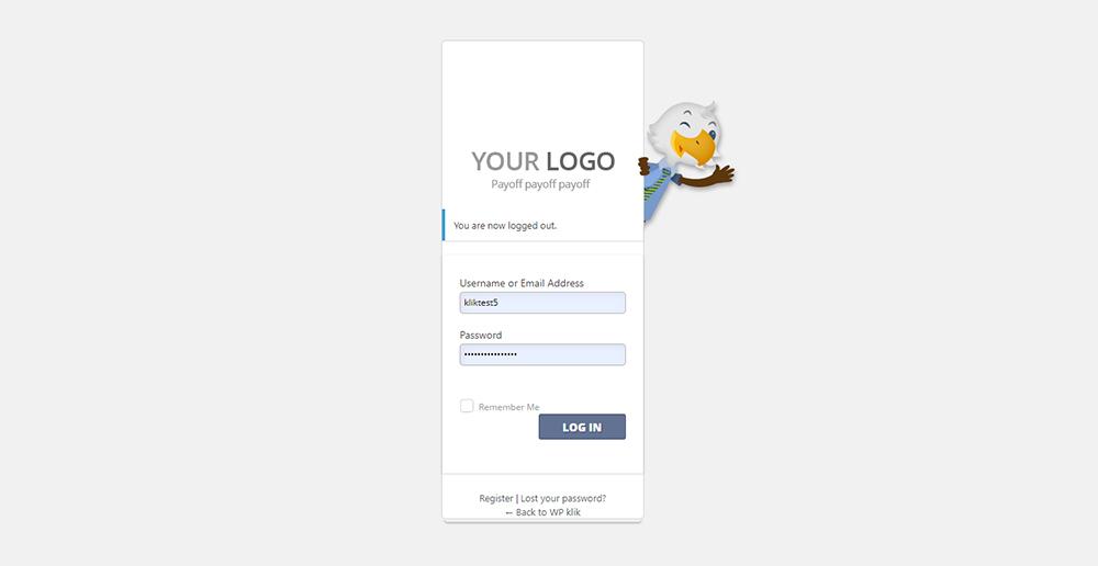 YITH Custom Login Page