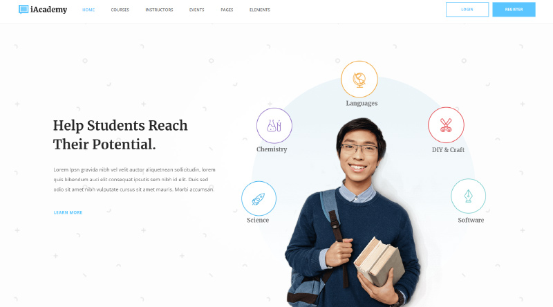 iAcademy WordPress Theme