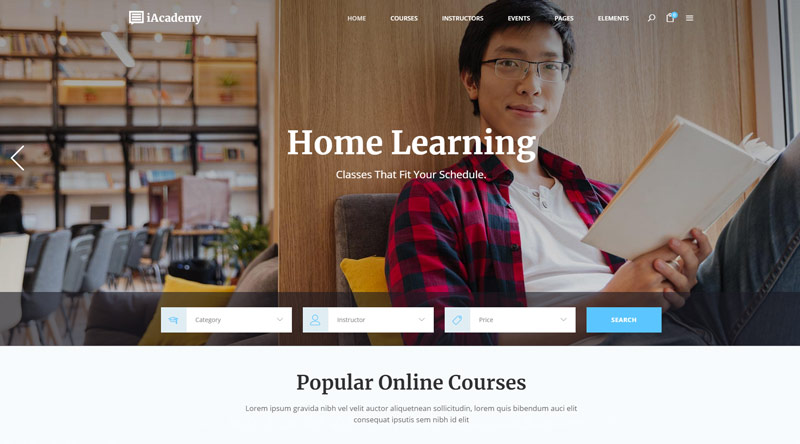 iAcademy WordPress Themes