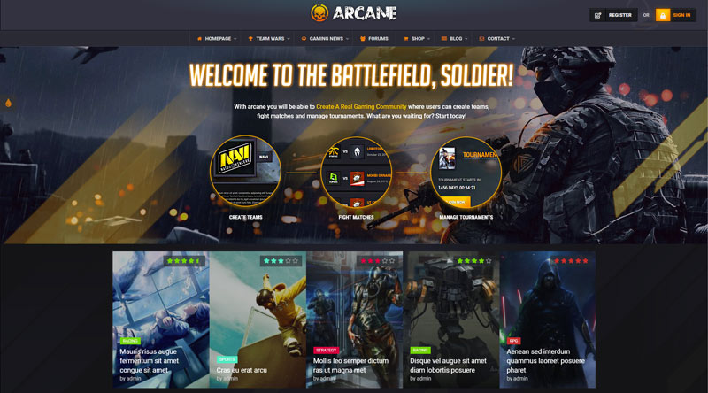 Arcane WordPress Theme