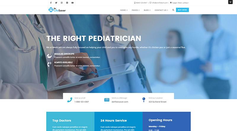 Dr. Life Saver WordPress Theme