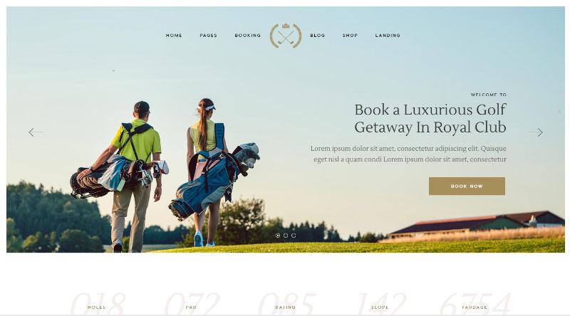 FairwayGreen Golf Club Theme