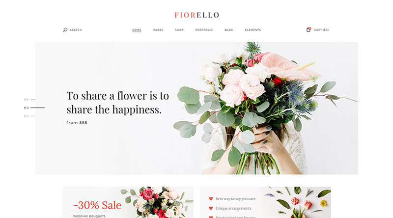 5 Best Flower Shop WordPress Themes 1