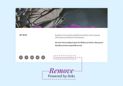 How to Remove Proudly Powered by WordPress