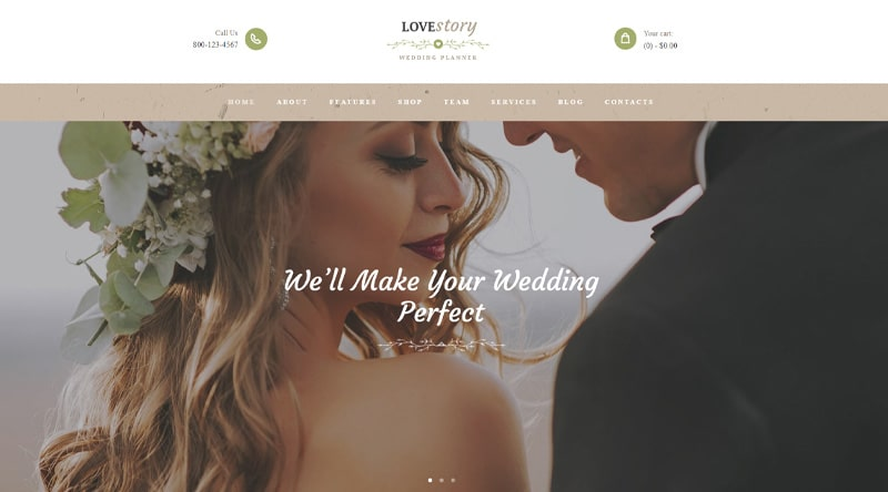 Love Story WordPress Theme