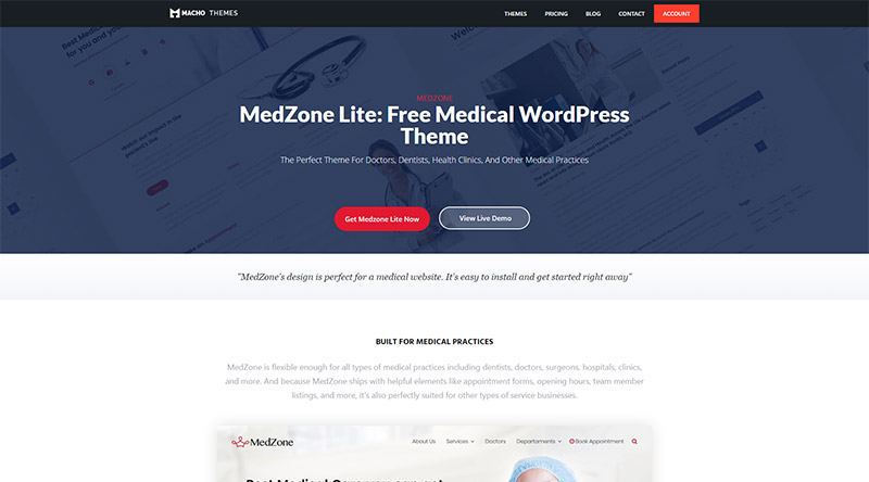 MedZone Lite WordPress Theme
