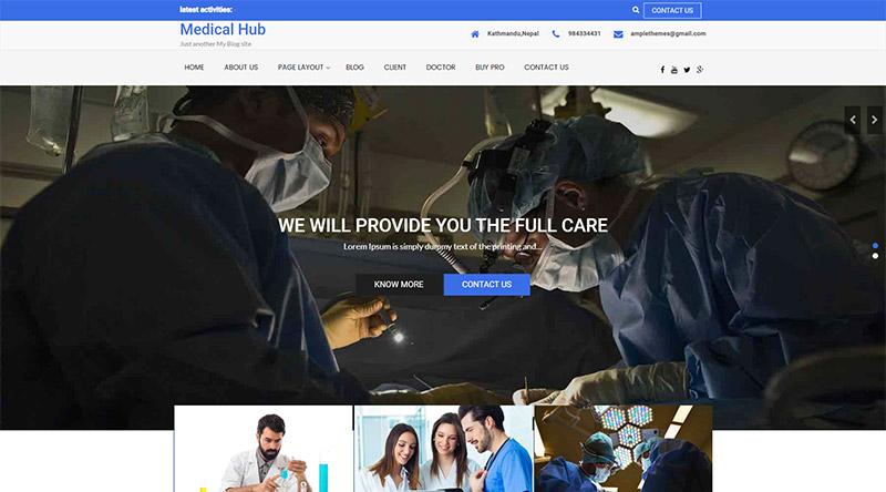 Medical Hub WordPress Theme