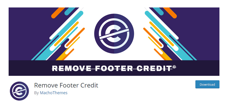 Remove Footer Credit